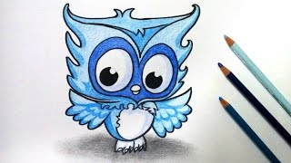 ❁ how to draw owl-monster high ghoulia yelps pet ❁ Sir Hoots a Lot