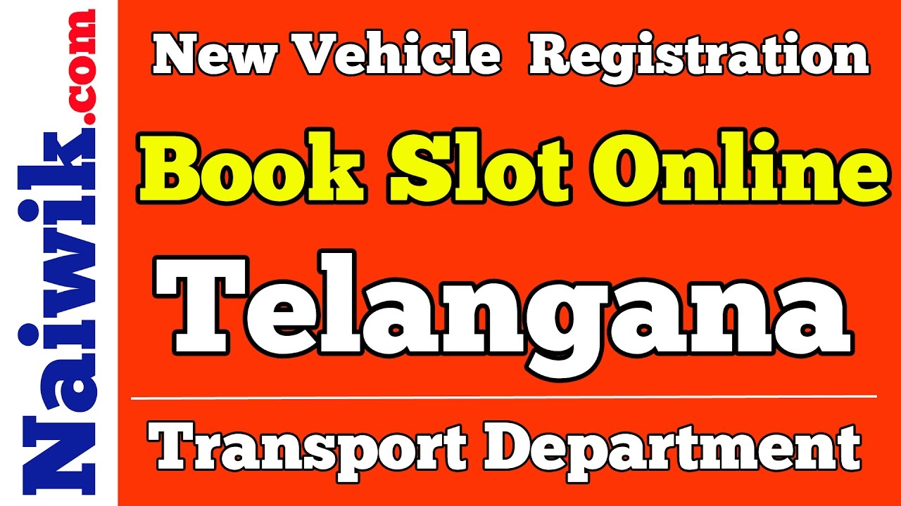 new vehicle registration telangana transport department book