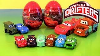 Cars Micro Drifters Easter Eggs Holiday Edition Toy Surprise 2013 Buildable Toys Disney Pixar