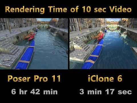 Comparison of Rendering between Poser Pro 11  and iClone 6 (1)