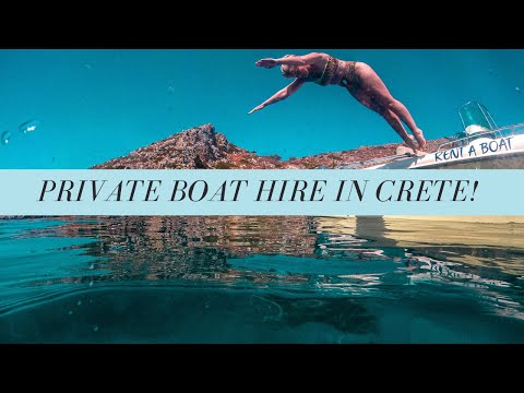 PRIVATE BOAT HIRE IN CRETE - Snorkelling and Hidden Sunset Spot Vlog #2