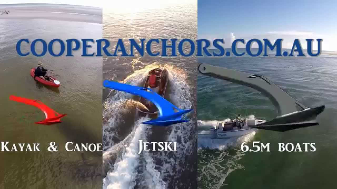 Cooper Anchors, How to anchor Kayaks, SUP's, jetski and boat