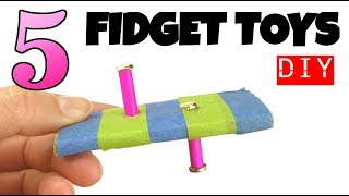5 EASY DIY FIDGET TOYS -HOW TO MAKE TOYS FOR KIDS- CARDBOARD, PAPER TOYS-STRESS RELIEVERS DIYS