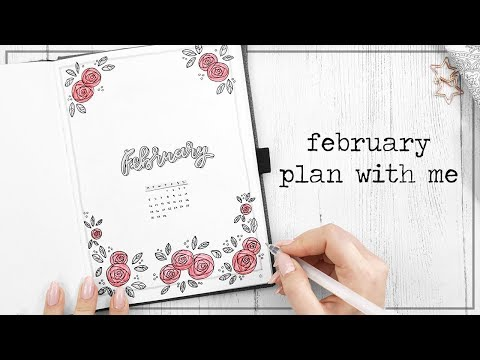 PLAN WITH ME || February 2018 || Bullet Journal Setup