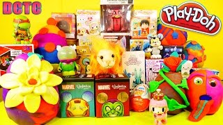 Play Doh Giant Surprise Egg Videos BFFS Kidrobot Blind Boxes DCTC Playdough Disney Cars Toy Club