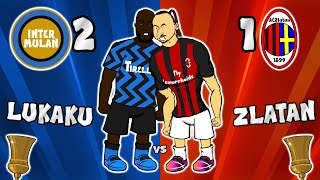 🔴Zlatan vs Lukaku!🔵 Inter Milan 2-1 AC Milan (Coppa Italia Goals Highlights Eriksen free-kick fight)