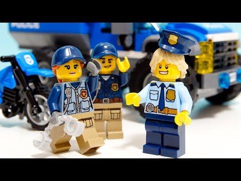 【LEGO遊び】レゴ警察ゴッコ ネットシューターで泥棒を捕まえろ!今回は山のポリスの衣装で事件解決するぞ【アナケナ&カルちゃんのキッズアニメ】LEGO City 60172