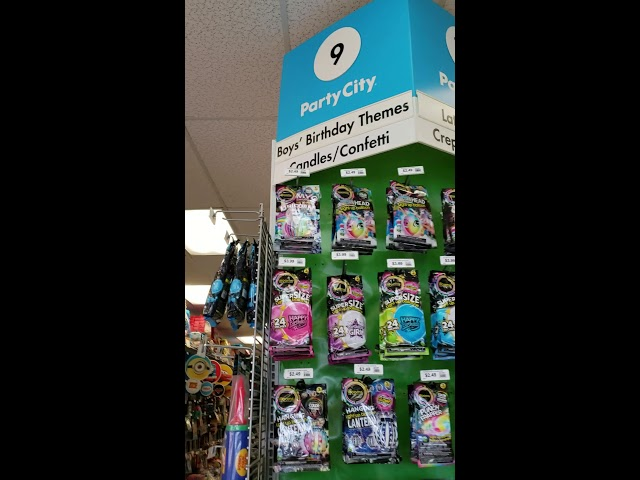 Why is there a girl's vs boys section at Party City?