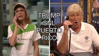 "SNL Trump's Puerto Rico, Season Premiere 2017, Baldwin: ""We have to take care of America first."""
