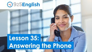 Business English - Answering the Phone | 925 English Lesson 35 | Telephone English