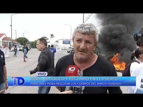 Rigel: bloqueo y reclamo en el Puerto