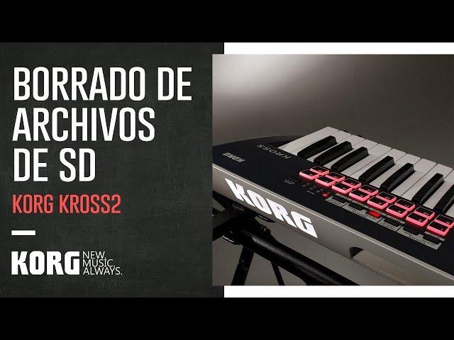 KORG KROSS2 | Borrado de archivos de una memoria SD