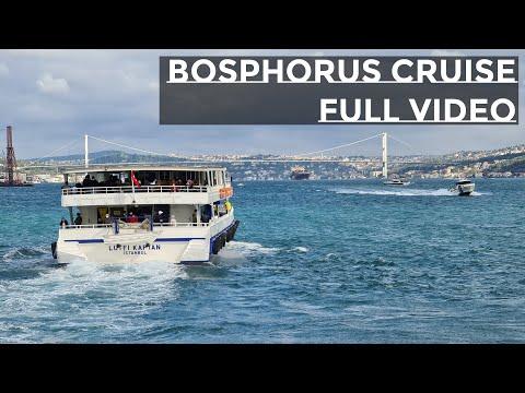 [4K 60] Istanbul Bosphorus Cruise Full Length Video ( Binaural Audio )