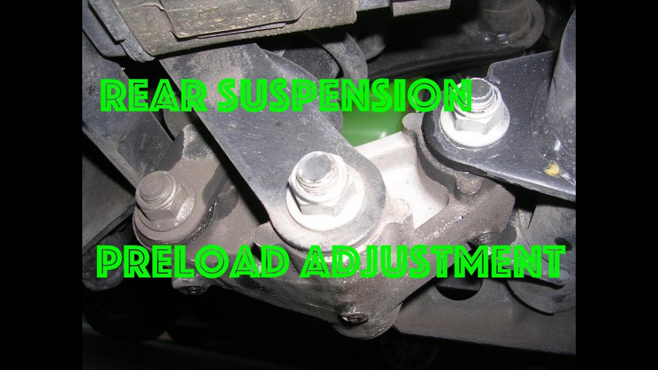 rear suspension preload adjustment on kawasaki vulcan 900 - youtube
