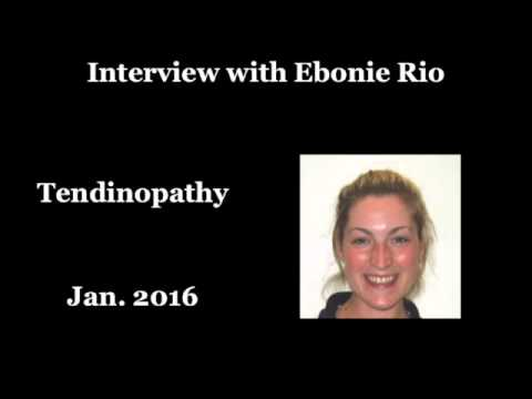 Interview with Ebonie Rio - insights into treating tendinopathy