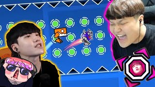 WHO IS THE REAL SPAM GOD?! (w/Dorami) | GD race | Geometry Dash