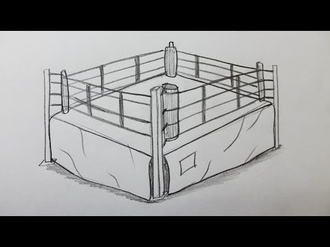 Boxing ring diagram how to draw a boxing ring ccuart Images