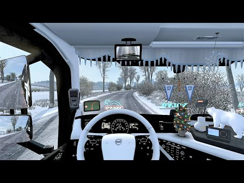 Euro Truck Simulator 2 (v1.36) - Volvo FH Reworked Open Pipe Sound + Skin + Interior [Frosty Winter]