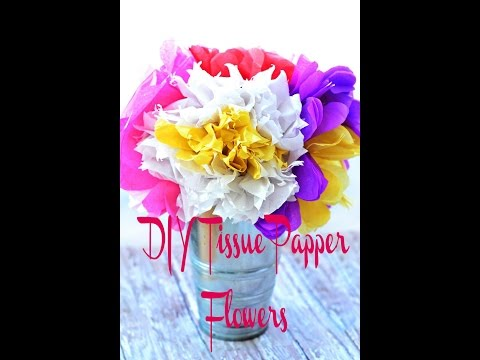 DIY - Tissue Paper Flowers How-To