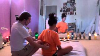 Thai massage seated back pt.1