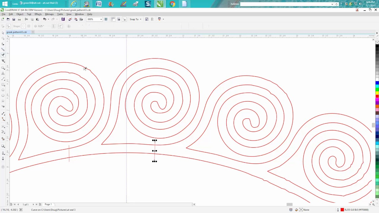 Drawing Lines In Coreldraw : Corel draw tips tricks greek pattern clean up a hard