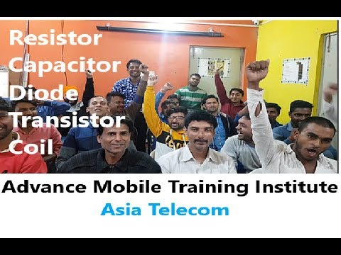 Mobile Resistor,Capacitor,Diode,Coil,Transistor,Copuler AllType and Testing Explain by Asia Student