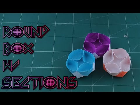 How to Make A Lazy Susan Box With Sections Tutorial - Easy Origami Paper Box | DIY Paper Craft Ideas