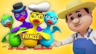Cinco grandes patos | rimas para niños | Five Big Ducks | Canciones Infantiles | Baby Song