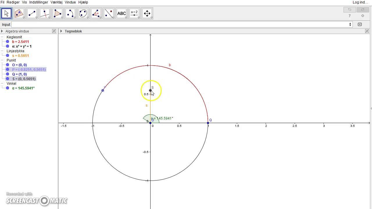 Udfoldning af grafen for sinus i GeoGebra