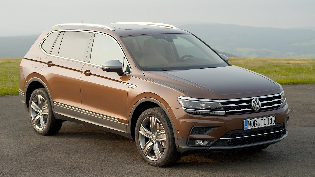2018 volkswagen tiguan allspace exterior footage eu. Black Bedroom Furniture Sets. Home Design Ideas