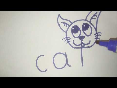 How to turn Words Cat Into a Cartoon Cat.Wordtoons|كيفية تحويل الكلمات إلى القط