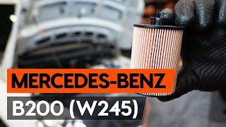 Montavimo Alyvos filtras MERCEDES-BENZ B-CLASS (W245): nemokamas video