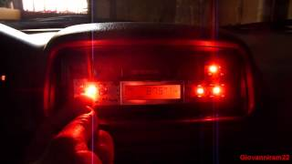 Change the color of the lights (or replace the burnt out ones) of a Car Radio.