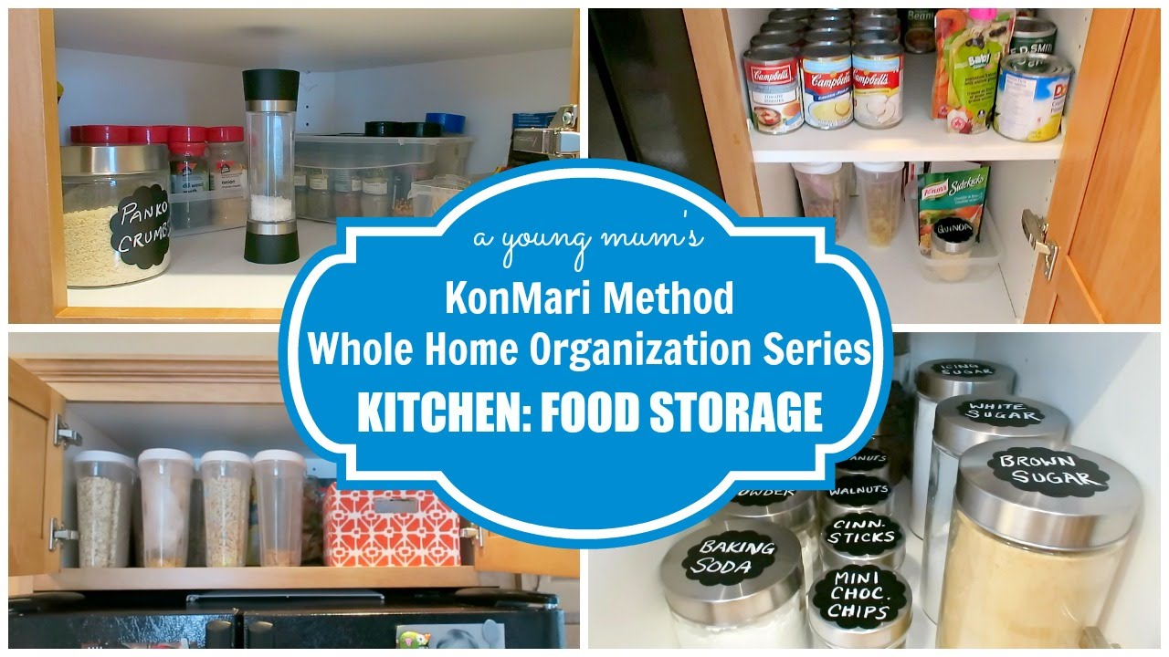 KonMari Organization | Kitchen: Food Storage BEFORE & AFTER - YouTube
