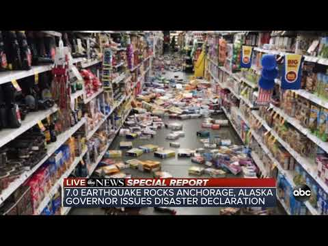 Two powerful earthquakes rock buildings, shatter roads in Anchorage, Alaska