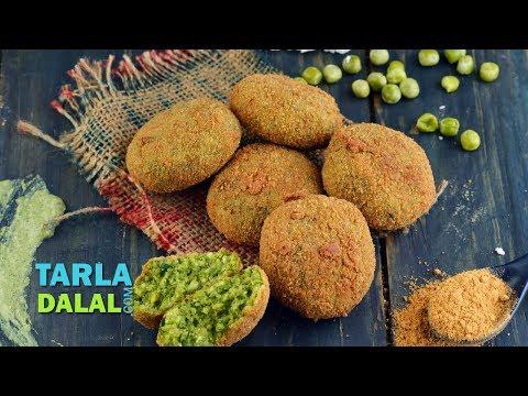 Hara Bhara Kebab (Vegetarian Kebab Recipe),Starter/Snack/Party, Recipe in Hindi by Tarla Dalal