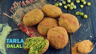 Hara Bhara Kebab (Vegetarian Kebab Recipe) - Starter / Snack / Party Recipe by Tarla Dalal