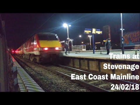 Trains at Stevenage, ECML   24/02/18