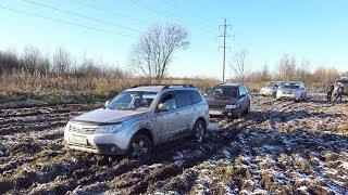 Почему Subaru не трактор?? Взяли УАЗ и поехали в поле! Оффроуд битва кроссоверов внедорожников 2017