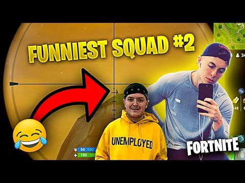 THE FUNNIEST SQUAD EVER! ft. THE FELLAS **PART 2** (Fortnite Battle Royale Funny Moments)