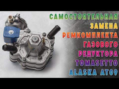 Снятие, разборка, замена ремкомплекта и установка на место газового редуктора Tomasetto Alaska AT09.