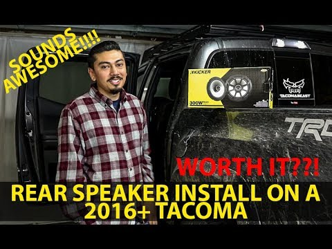 how to install rear door speakers 2016 tacoma tacoma is it worth it youtube. Black Bedroom Furniture Sets. Home Design Ideas