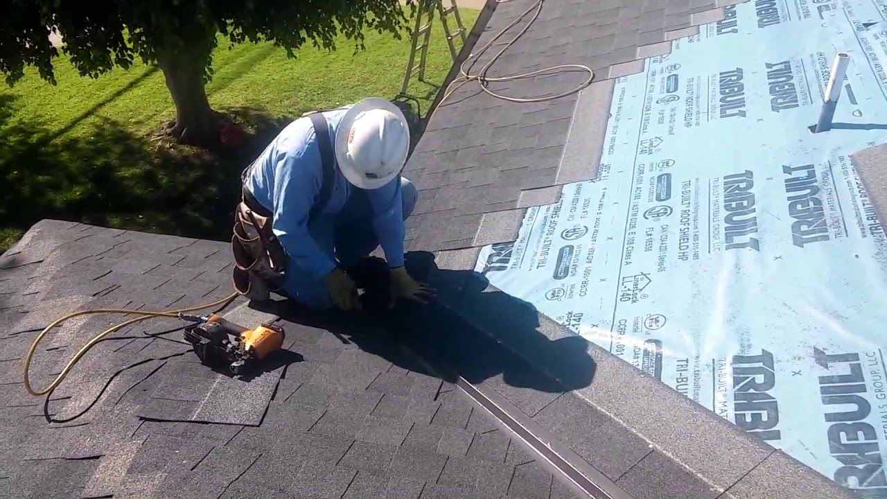 How To Video Roofing Basics Installing A Valley On A