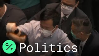 hong-kong-pro-democracy-lawmakers-protest-china-security-law