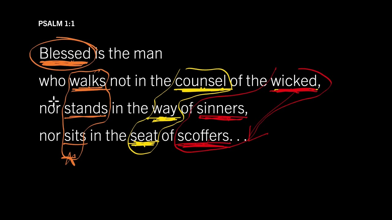 Psalm 1:1 // How to Lose Your Happiness