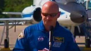 STS-124 CREW ARRIVES AT KSC FOR  FINAL PRELAUNCH TEST