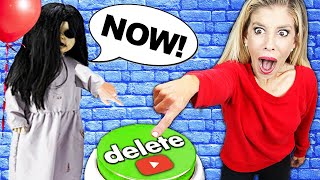 CREEPY GIRL Controls Our Lives for 24 Hours! (Pranks to Trick Halloween Hacker)   Rebecca Zamolo