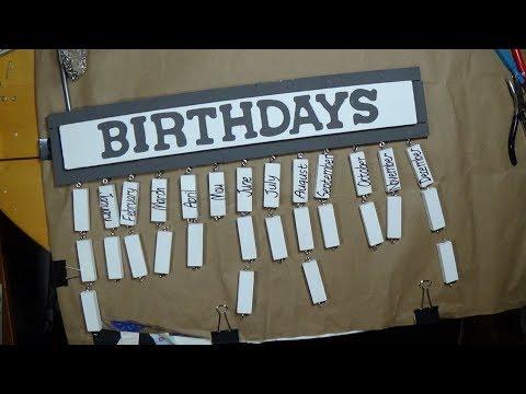 DIY Dollar Tree Wood Birthday Calendar