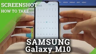 How to Take Screenshot on SAMSUNG Galaxy M10 - Save Screen Tutorial