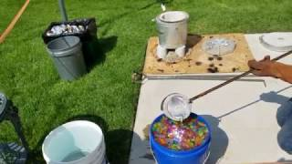 Casting Aluminum into Water Beads